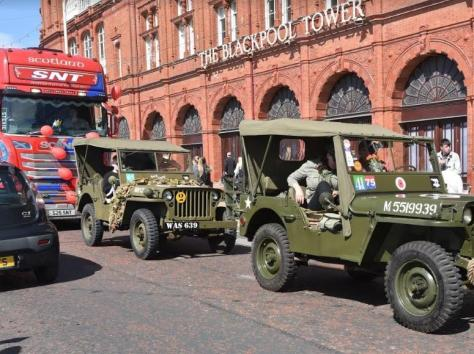 The convoy had everything from juggernauts to jeeps.