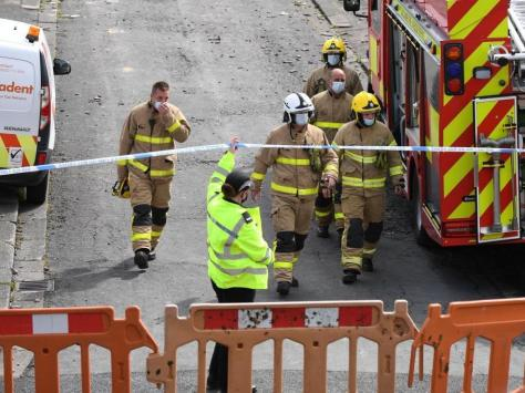 """Resident Susan Faulkner, 74, who lives further down Mallowdale Avenue, said the blast was """"like a bomb going off"""" and that she was still """"shaken"""" by the incident."""