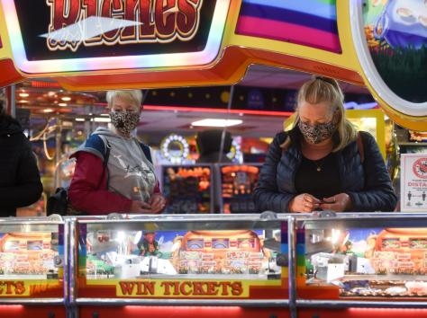 The arcades were all open again in Blackpool