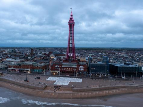 The Blackpool Tower lights up......pink for its first ever gender reveal