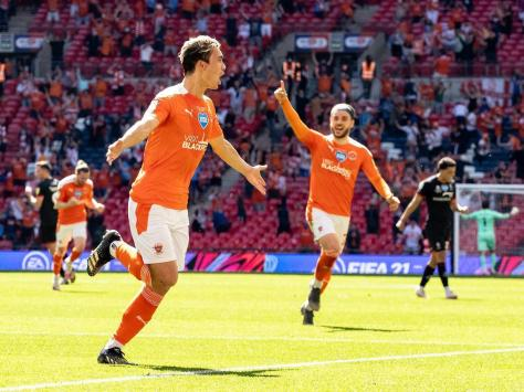 Kenny Dougall was Blackpool's hero with both of their goals
