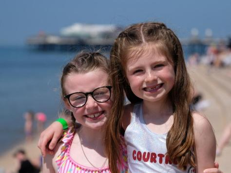 Tilly Pinkerton and Courtney Tanner on the beach
