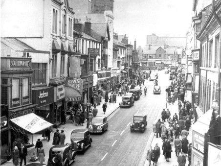 Clifton Palace is on the left hand side in this early photo of Church Street, Blackpool