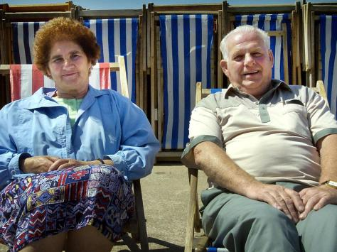 James and Kathleen Noon who took part in a Gazette survery about proposals to scrap the deck chairs in 2004