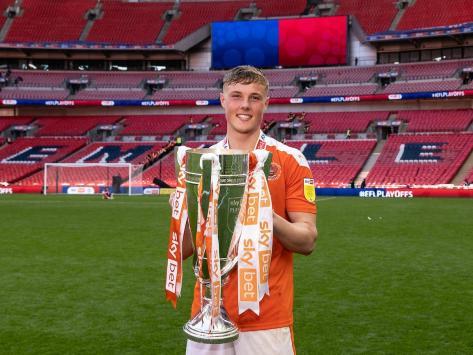 Ballard celebrates Blackpool's recent play-off triumph