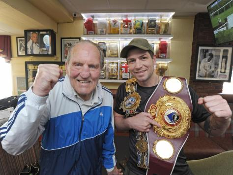 Brian with fellow Blackpool boxer Brian Rose in 2018