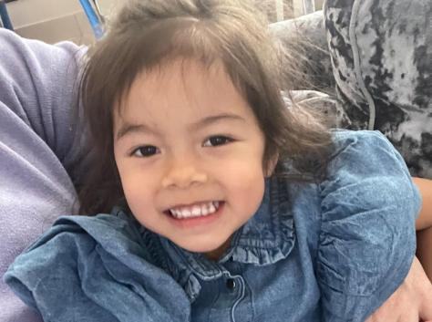 Joey's young daughter Olivia who has been part of a fundraising drive to help with funds towards the entertainer's treatment.
