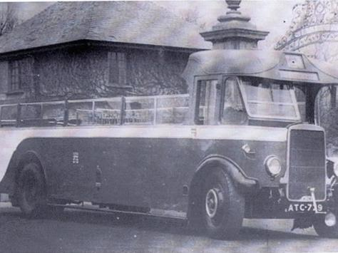 One of the four open-topped Leyland Lions which ran a circular services