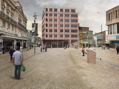 The original proposal for a seven storey building was scrapped