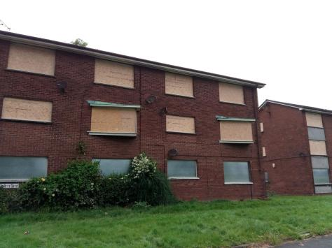 The old flats which were demolished to make way for redevelopment