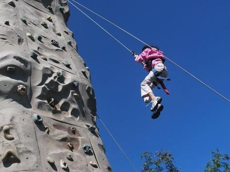 Abseiling cold be one of the activities at Adrenaline World along with zip wires