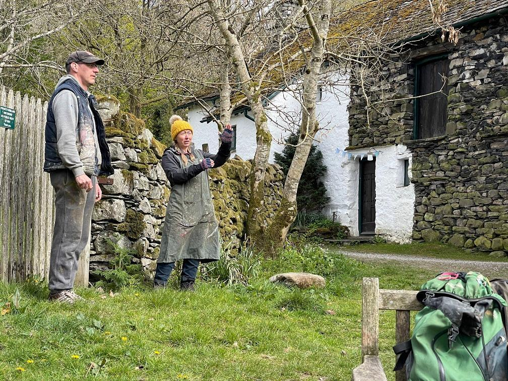 Artists Norman Long and Haidee-Jo Summers in the Lake District