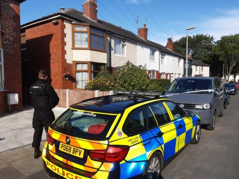 Police officers were still at the scene in Carsluith Avenue, Marton on Sunday (July 25) morning.