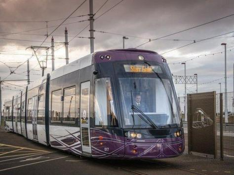 Tram services were forced to miss several stops in Fleetwood due to a tree blocking an overhead line.