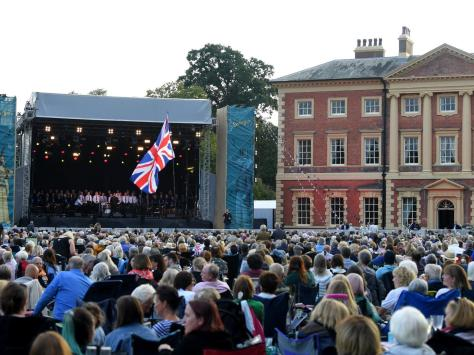 Crowds enjoy the Lytham Community Choir's performance at the WonderHall proms concert headlined by Russell Watson