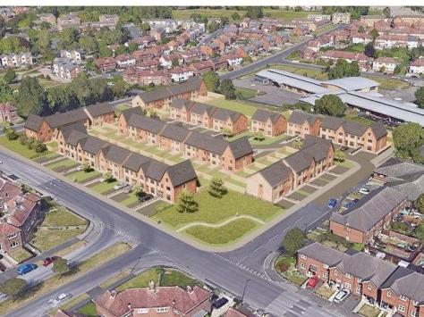 Artists impression of new homes proposed at Grange Park