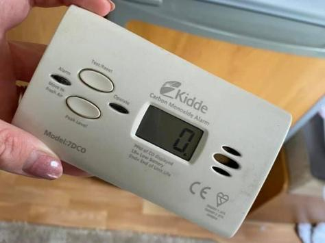 """The Yates' are urging others to check their CO alarms - """"£15 and a couple of AA's is a small price to pay for the safety of your family,"""" they said. Pic: Amber Yates"""