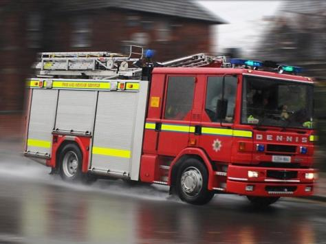 The fire happened on Cropper Road last night