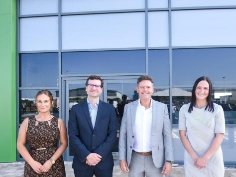 Members of the team at Multi-ply who will be moving into the building in January, Hannah Kirby, Lucas Morgan, Darren Dowdall and Helen Houghton.