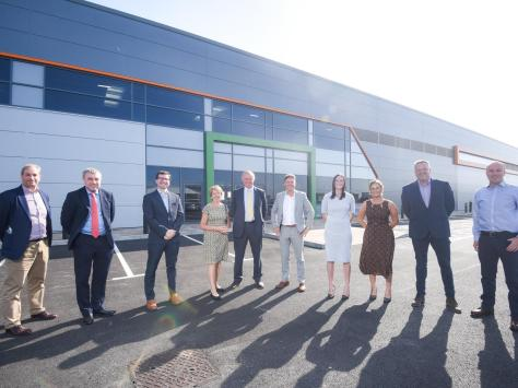 Handover of new Multi-ply carbon fibre factory on Amy Johnson Way.