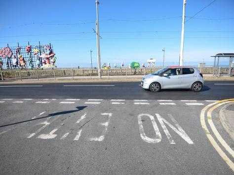 The painted sign is fading and doesn't deter drivers from entering Hesketh Avenue at the Promenade end, but Blackpool Council has informed residents the signage is sufficient, Michelle alleged. Pic: Daniel Martino/JPI Media