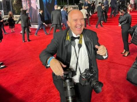 Dave Nelson on the red carpet at the world premiere of Bond film, No Time to Die