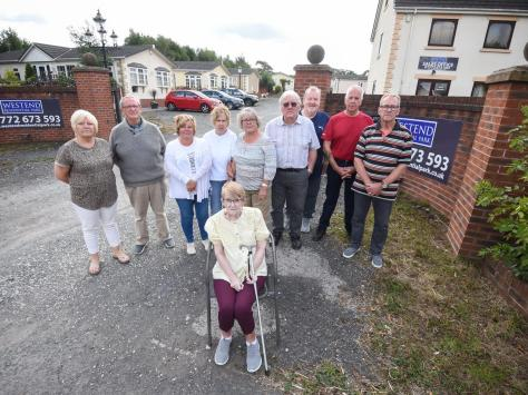 Residents at the Westend Residential park off Blackpool Road near Kirkham say they fear they will lose their homes after site fees rockets by 100 per cent
