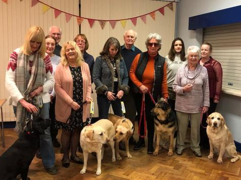 Members of the Guide Dogs Fylde Coast group