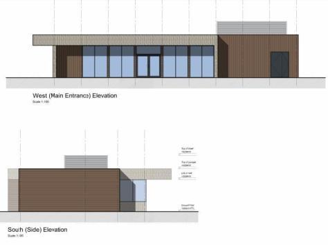 Plans submitted for the appearance of the shop