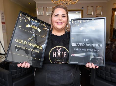 Natalie Dean-Wenlock has won two awards at the British Hair and Beauty Awards. Pic; Daniel Martino/JPI Media
