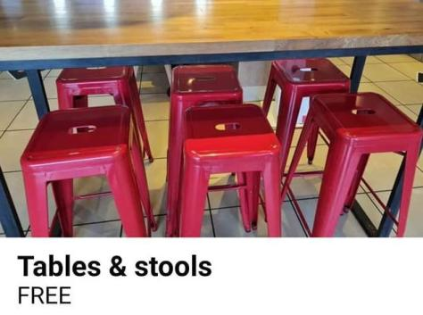 The KFC restaurant in Fleetwood is giving its tables and chairs away for free on Facebook Marketplace as the branch prepares to undergo a refit