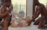 NAOMI WOODS FUCKED BY TWO BLACK COCKS