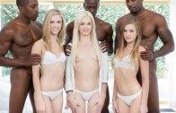 PREPPY GIRL THREESOME GET THREE BBCS – ELSA JEAN, RACHEL JAMES & SYDNEY COLE – BLACKED