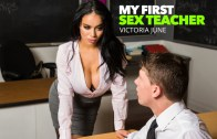 My First Sex Teacher – Victoria June Teaches College Student How To Properly Fuck