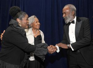Coca-Cola executive Ingrid Saunders Jones, (right) during a Jackie Robinson Foundation awards program, will retire from the company and the Coca-Cola Foundation on June 1 after 30 years of service. (Courtesy photo).