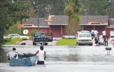 Hurricane Katrina slammed into the Gulf Coast on Aug. 29, 2005, causing billions of dollars of damage and a death toll in the thousands. (Photo courtesy of Dan Anderson)