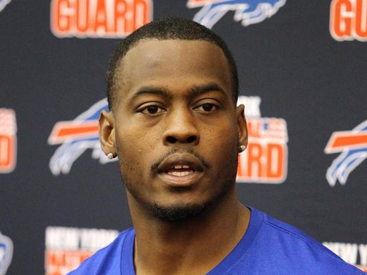 Buffalo Bills quarterback Tarvaris Jackson speaks with the media following organized team activities at Bills Healthy Zone Fieldhouse in May. (Photo: Timothy T. Ludwig, USA TODAY Sports)