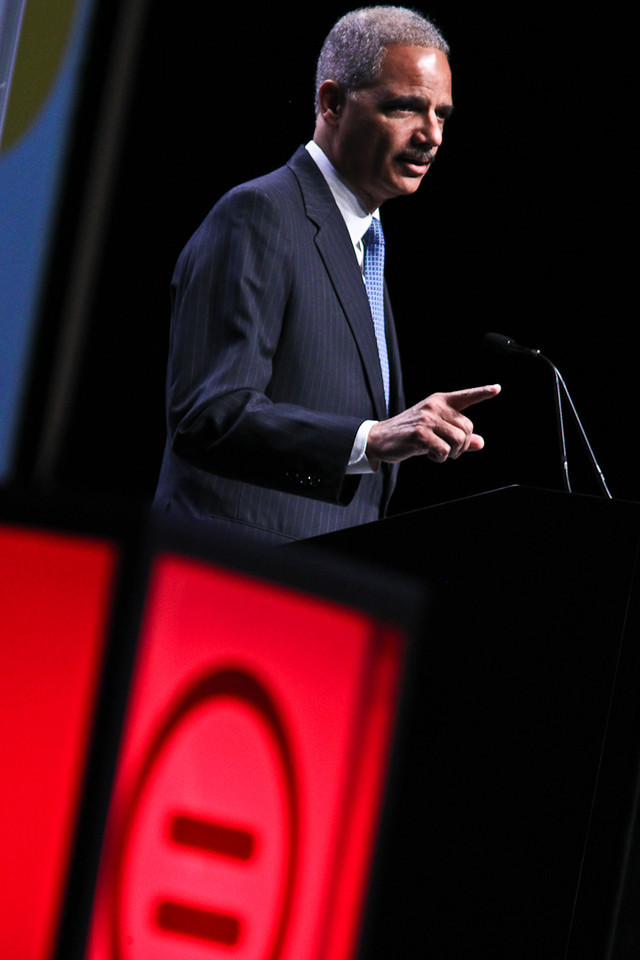 AG Eric Holder takes aim at Texas voter laws (Urban League Photo by Sharon Farmer)