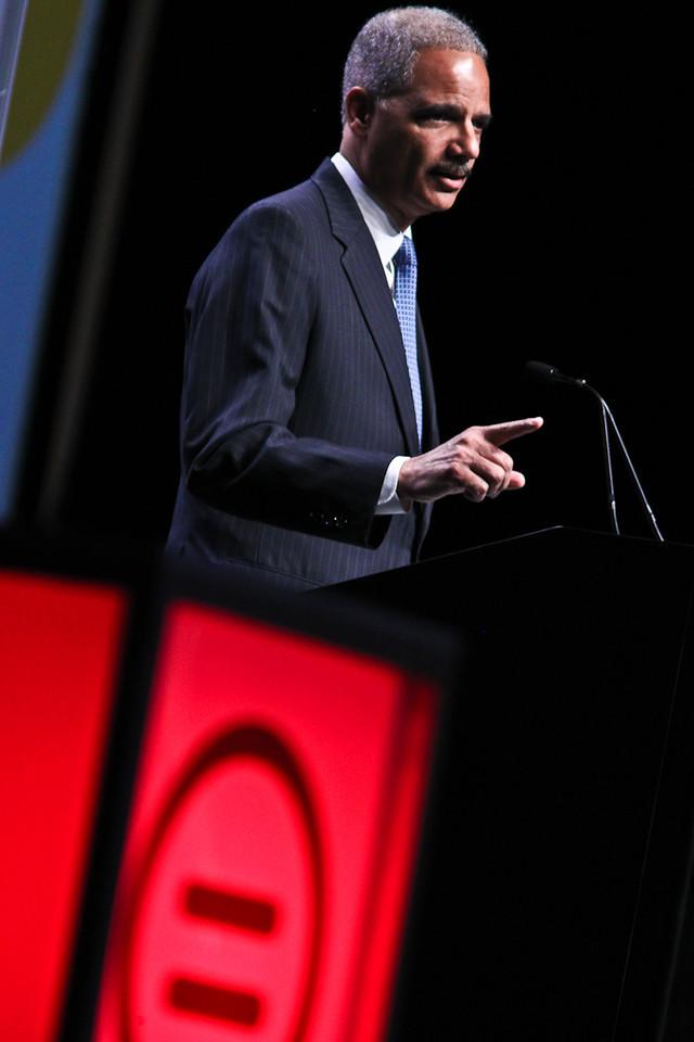 AG Eric Holder takes aim at Texas voter laws (Urban League Photo by Sharon Farmer)