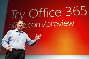Microsoft Corp. Chief Executive Officer Steve Ballmer speaks at an event in San Francisco. Office Mobile is technically free. But it's useless unless you've already paid at least $100 for a year of Office 365, Microsoft's effort to convert its traditional shrink-wrapped, purchase-one-time-only software business into a pay-as-you-go subscription model.
