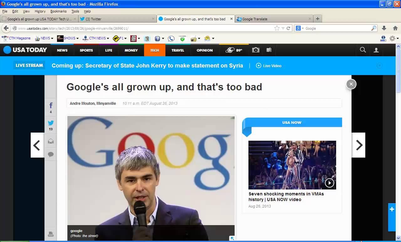 Google's all grown up USA TODAY Tech Update