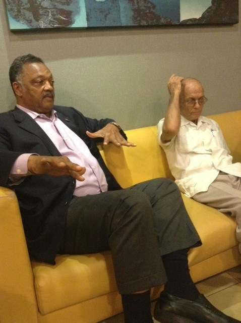 Jesse Jackson meets with Rev. Raul Ramos and other religious leaders in Cuba [NNPA Photo by George E. Curry].