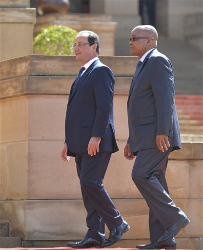 Francois Hollande, Jacob Zuma