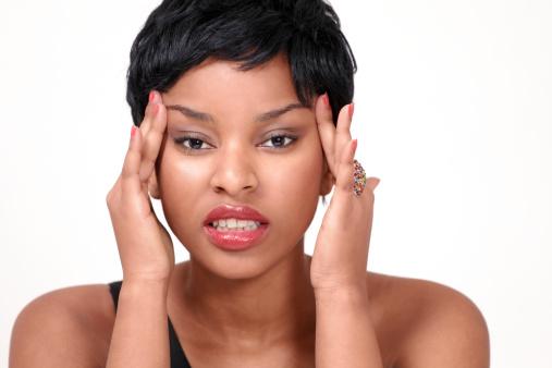 black-woman-short-hair-upset