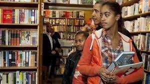 President Obama and daughters Sasha and Malia