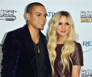 "This Nov. 12, 2013 file photo shows Evan Ross, left, and Ashlee Simpson at the ""Bandfuse: Rock Legends"" video game launch in Los Angeles. Simpson is engaged to boyfriend Evan Ross, who is the son of Diana Ross. The pair announced the news on Twitter Monday, Jan. 13, 2014, confirmed Simpson's publicist Janet Ringwood. Simpson was previously married to Fall Out Boy bassist Pete Wentz. They have a five-year-old son named Bronx.  Ross is an actor who will appear in the final two installments of ""The Hunger Games."" (Photo by Richard Shotwell/Invision/AP, File)"