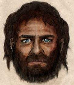This is an artist's impression of a male hunter-gatherer who lived in what is modern Spain 7,000 years ago. (Image credit: CSIC)