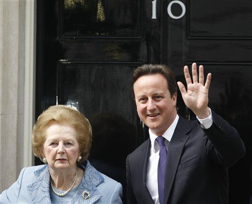 Baroness Thatcher, David Cameron