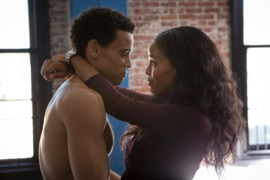 """Michael Ealy and Joy Bryant in the film """"About Last Night"""""""