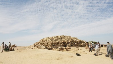Archaeologists working near the ancient settlement of Edfu in southern Egypt have uncovered a step pyramid that dates back about 4,600 years. (TELL EDFU PROJECT AT THE UNIVERSITY OF CHICAGO'S ORIENTAL INSTITUTE)
